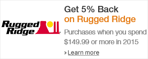 Get 5% Back on Rugged Ridge Purchases