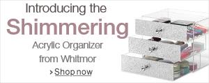 Shimmering Acrylic Organizer