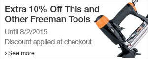 Extra 10% Off at Checkout on Select Freeman Tools sold by Amazon.com