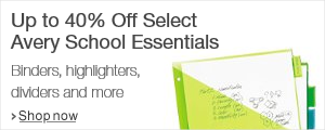 Up to 40% Off Avery School Essentials