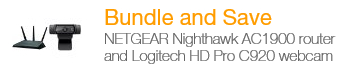 NETGEAR Logitech HD AC1900 Router and Webcam