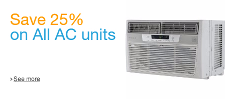 Save 25% on All AC Units