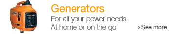 Generators for all your power needs, at home or on the go