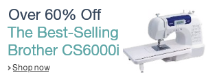 Save over 60% on the best-selling Brother CS6000i Feature-Rich Sewing Machine