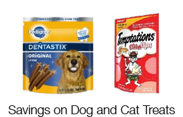 Savings on Dog and Cat Treats