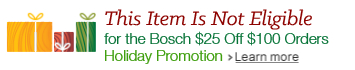Bosch Holiday Promotion