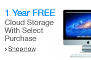 Get 1 Year FREE Unlimited Cloud Storage with Select PC Purchase