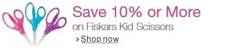 Save 10% or More on Fiskars Kids Scissors 3-packs