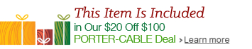 PORTER-CABLE Holiday Promotion