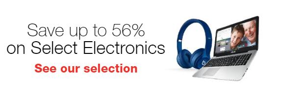 Save 56% on Select Electronics