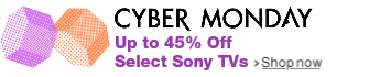 Up to 45% Off Select Sony TVs
