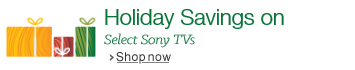 Holiday Savings on Sony TVs