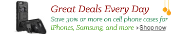 Save 30% or more on cell phone cases and accessories for iPhones, Samsung, and more.