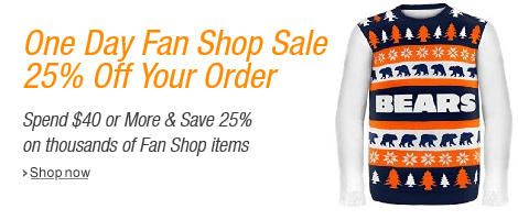 Save 25% in the Fan Shop