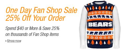 Save 25% in the Fan Shop