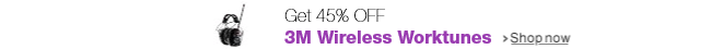 Get 45% off 3M Wireless Worktunes
