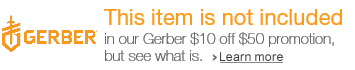 Gerber $10 off $50 promotion not included