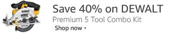 40% off DEWALT 5 Tool Combo Kit