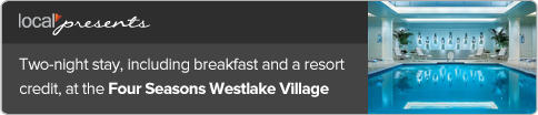 Two-night%20stay%2C%20including%20breakfast%20and%20a%20resort%20credit%2C%20at%20the%20Four%20Seasons%20Westlake%20Village