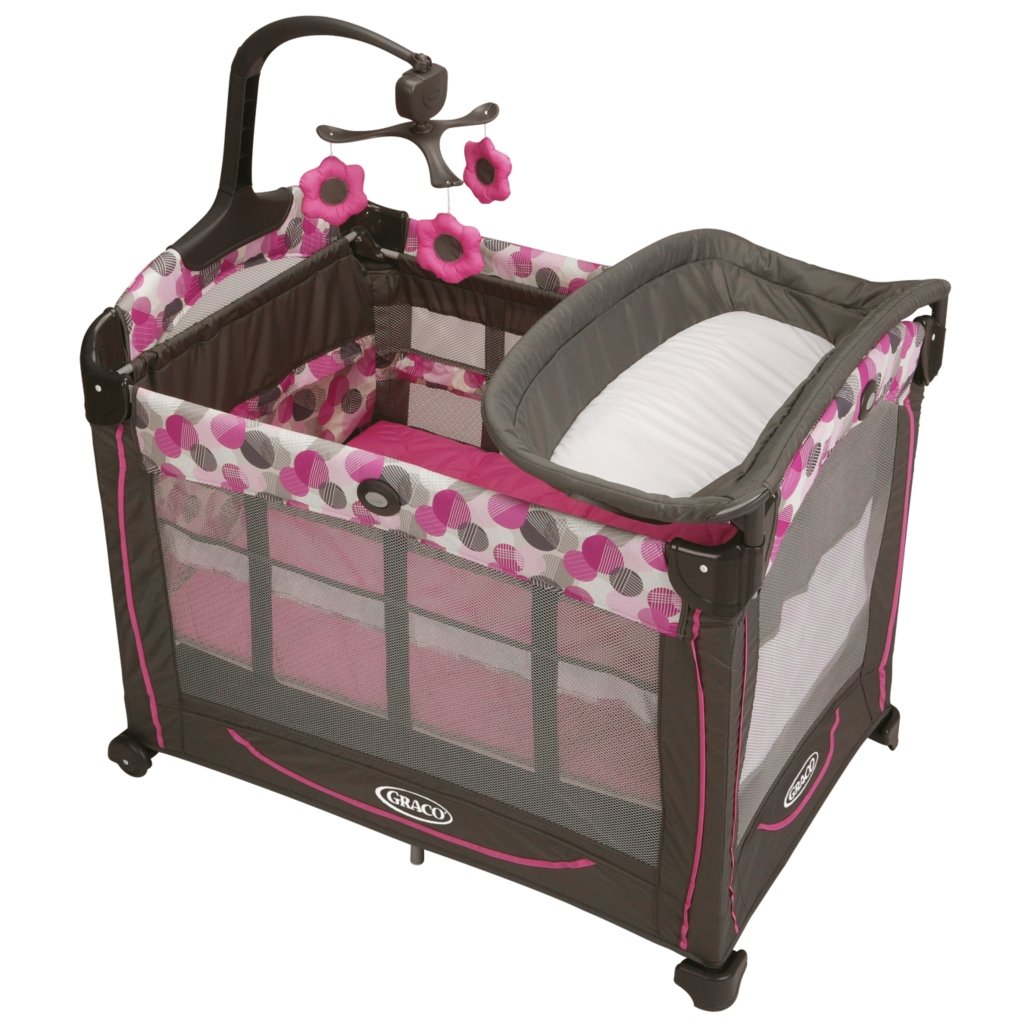 Graco Element Lexi Pink Travel Bassinet Crib Playard Pack ...