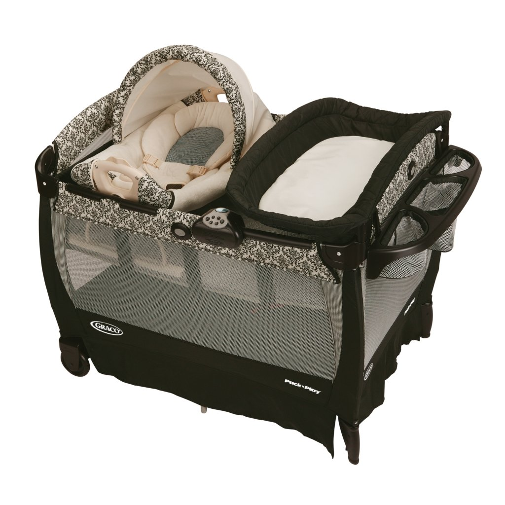 Graco Rittenhouse Cuddle Cove Travel Bassinet Crib Playard ...
