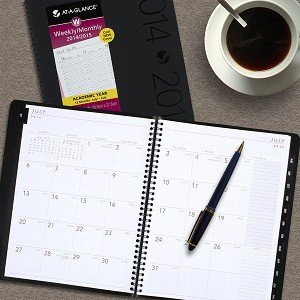 Contemporary Weekly Monthly Academic Appointment Book