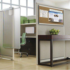 Quartet Cubicle Arc Frame Color Cork Bulletin Board 30 X: cubicle bulletin board ideas