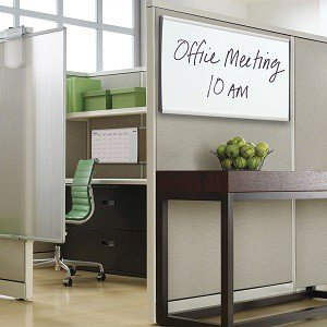 Arc Cubicle Whiteboard, Magnetic, Aluminum Frame