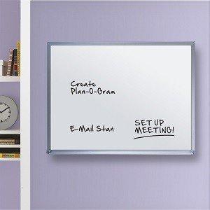 Porcelain Whiteboard, Magnetic, Aluminum Frame