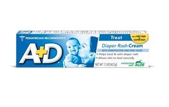 A+D Diaper Rash Cream, Dimethicone Zinc Oxide Cream, 4 Oz