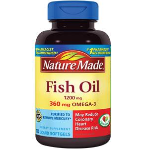 Nature made fish oil 1200 mg 360 mg omega 3 purified 200 for Omega 3 fish oil costco