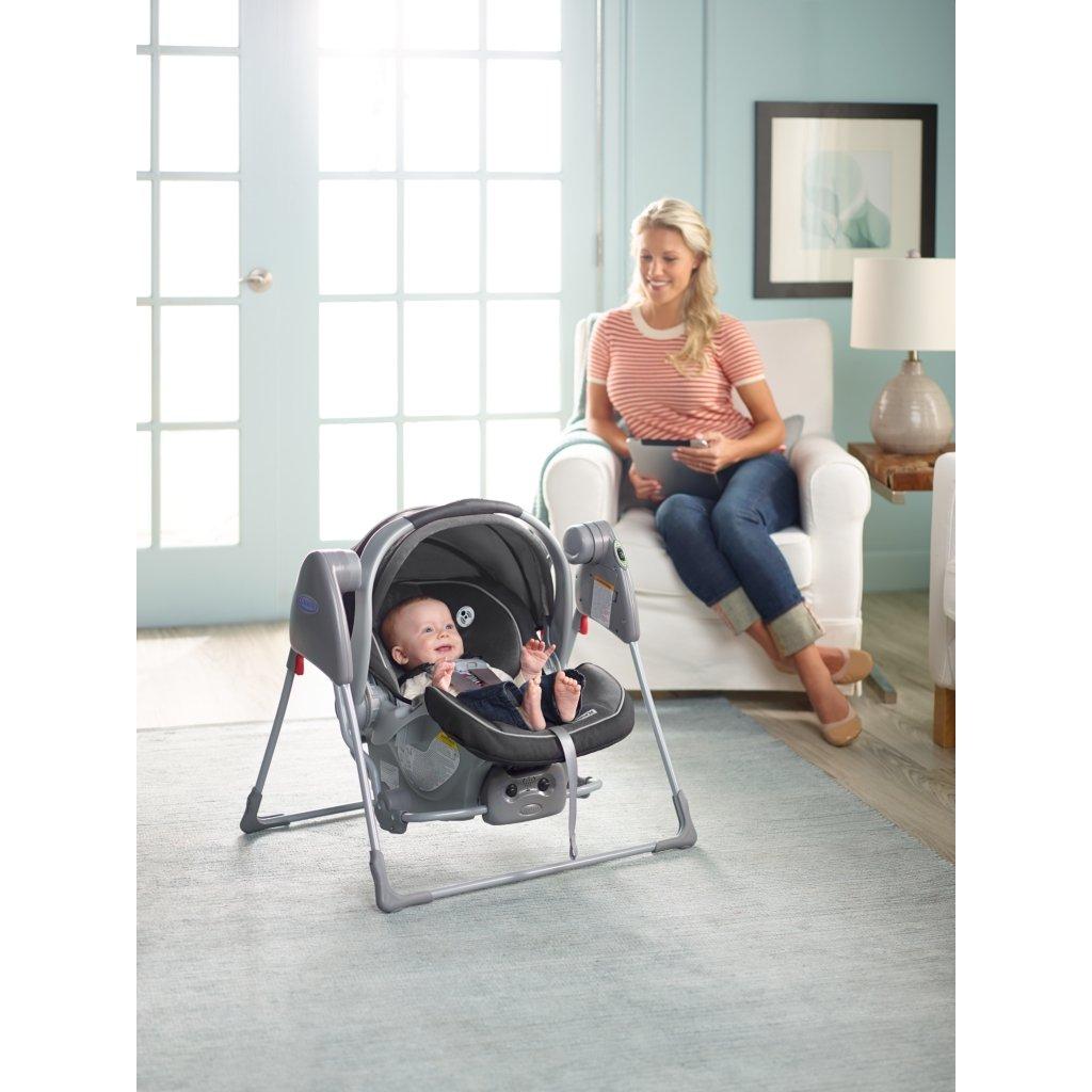 Amazon Com Graco Baby Snugglider Infant Car Seat Swing