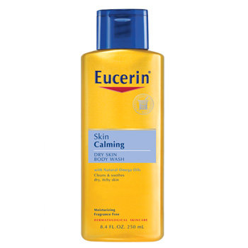 Eucerin Skin Calming Dry Skin Body Wash Oil, Fragrance Free, 8.4-Ounce