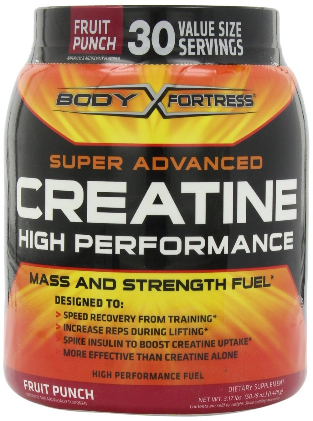 Body Fortress Super Advanced Creatine HP, Fruit Punch, 3.17 Pounds