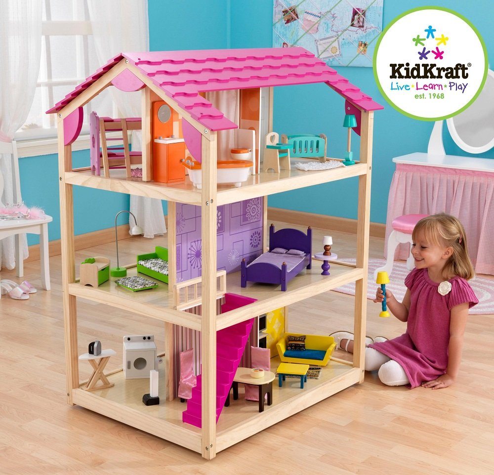 Amazon.com: KidKraft So Chic Dollhouse with Furniture ...