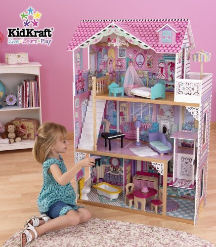 Kidkraft annabelle dollhouse with furniture for Annabelle chaise