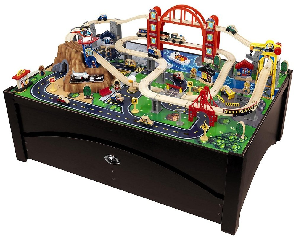 Amazon.com: Metropolis Train Table u0026 Set: Toys u0026 Games