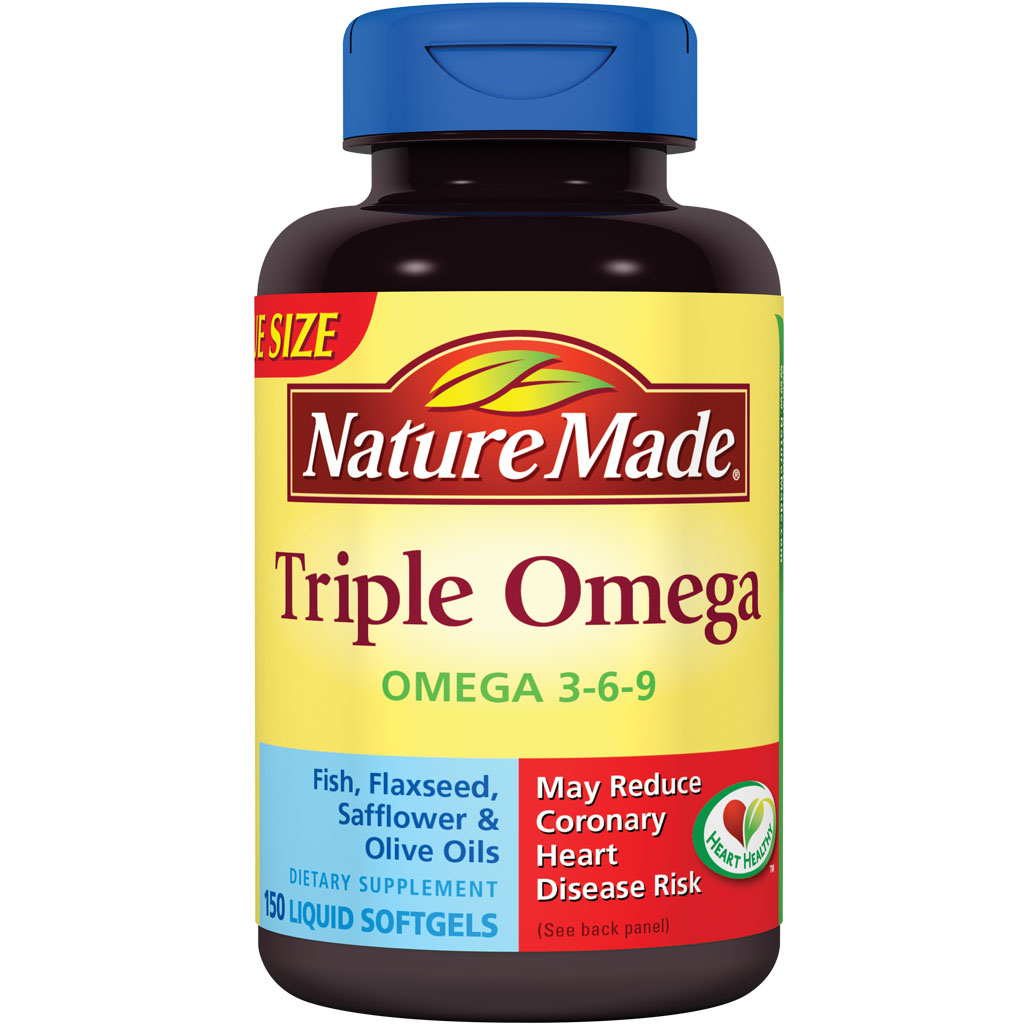 Amazon.com: Nature Made Triple Omega 3-6-9, 150 Softgels: Health