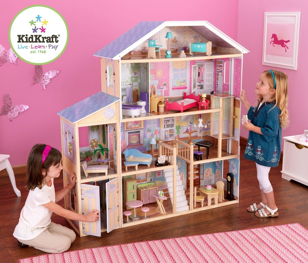 Kidkraft Majestic Mansion Dollhouse With Furniture Toys Games
