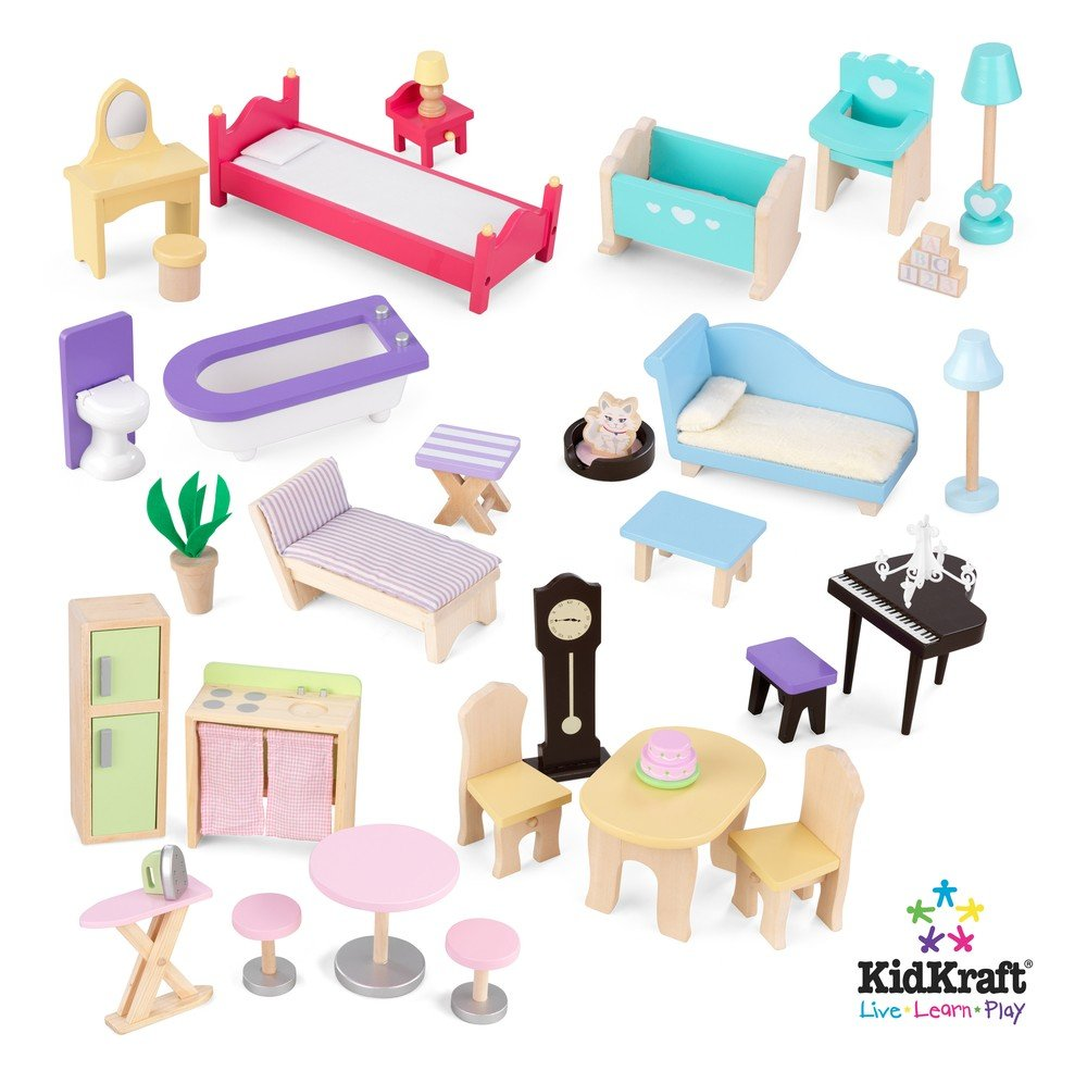 Kidkraft majestic mansion dollhouse with furniture new for Furniture accessories
