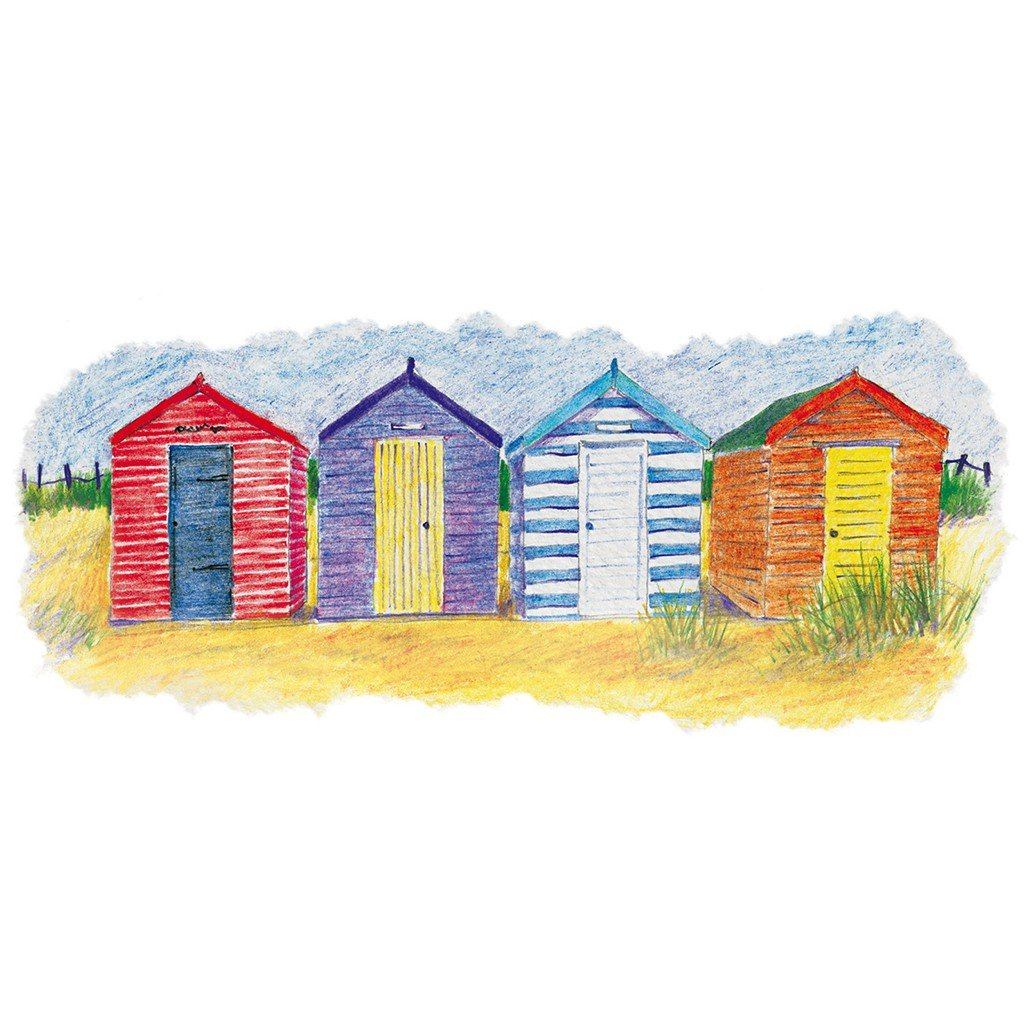 Derwent academy watercolor pencils metal tin for Beach house drawing