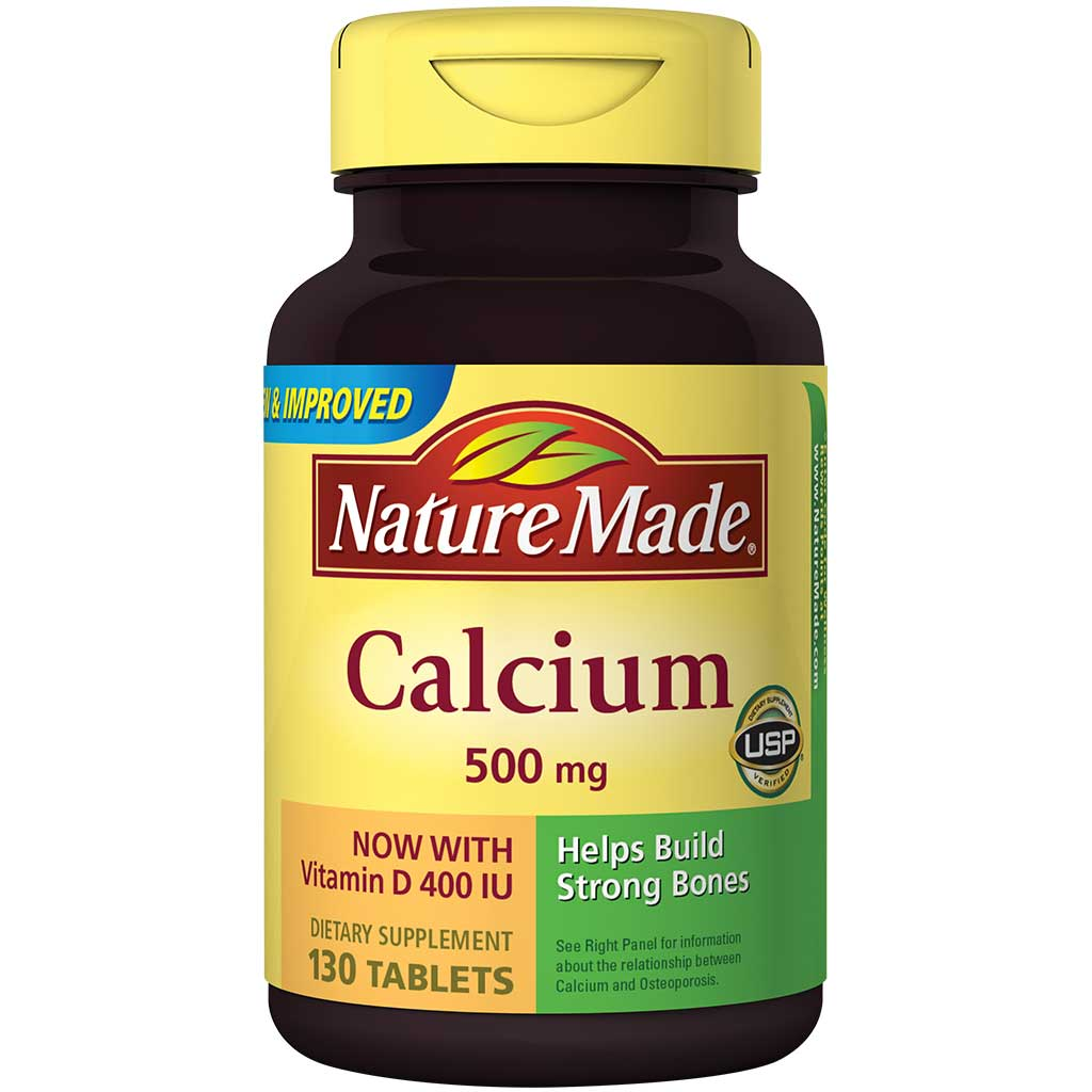 Amazon.com: Nature Made Calcium 500 Mg and Vitamin D Tablets, Tablets ...