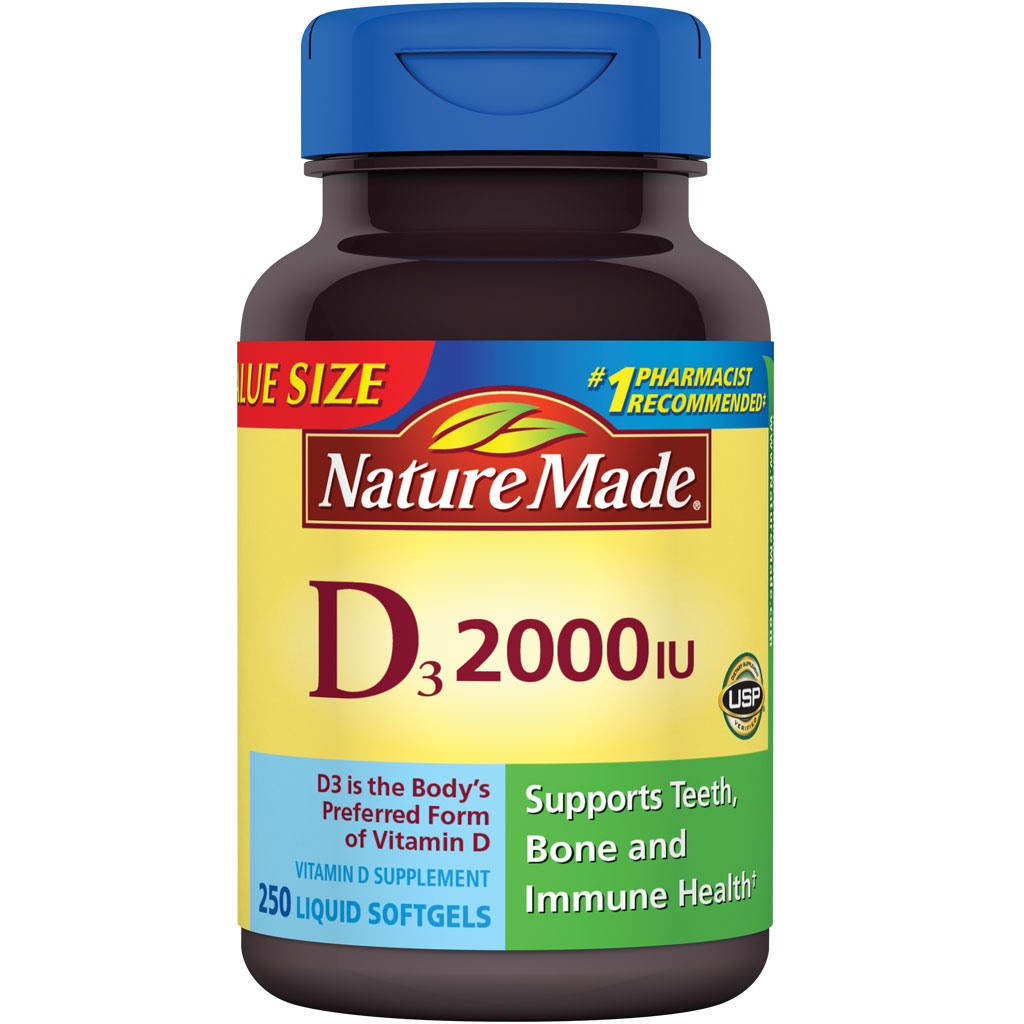 Details about Nature Made, Vitamin D3 2,000 I.U. Liquid Softgels, 250 ...