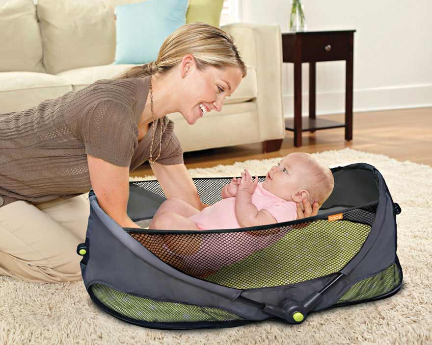 Amazon Com Brica Fold N Go Travel Bassinet Infant And