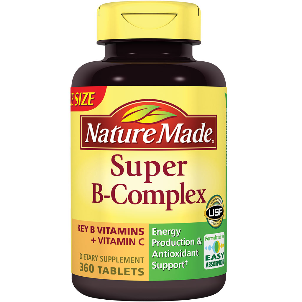 Nature Made Super B Complex Tablets HUGE 280 Count KEY B VITAMINS PLUS ...