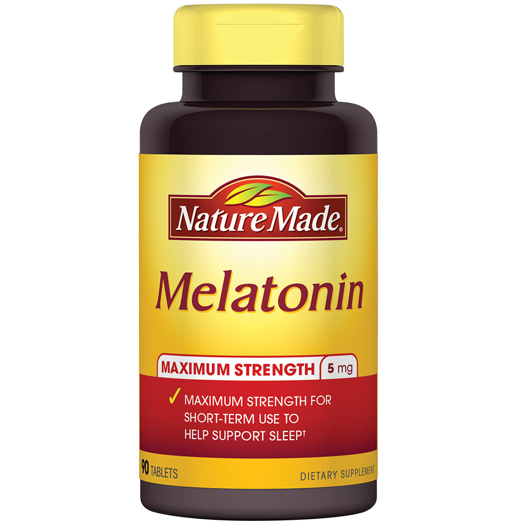 Nature Made Melatonin Tablets, 5 Mg, 90 Count: Health & Personal Care