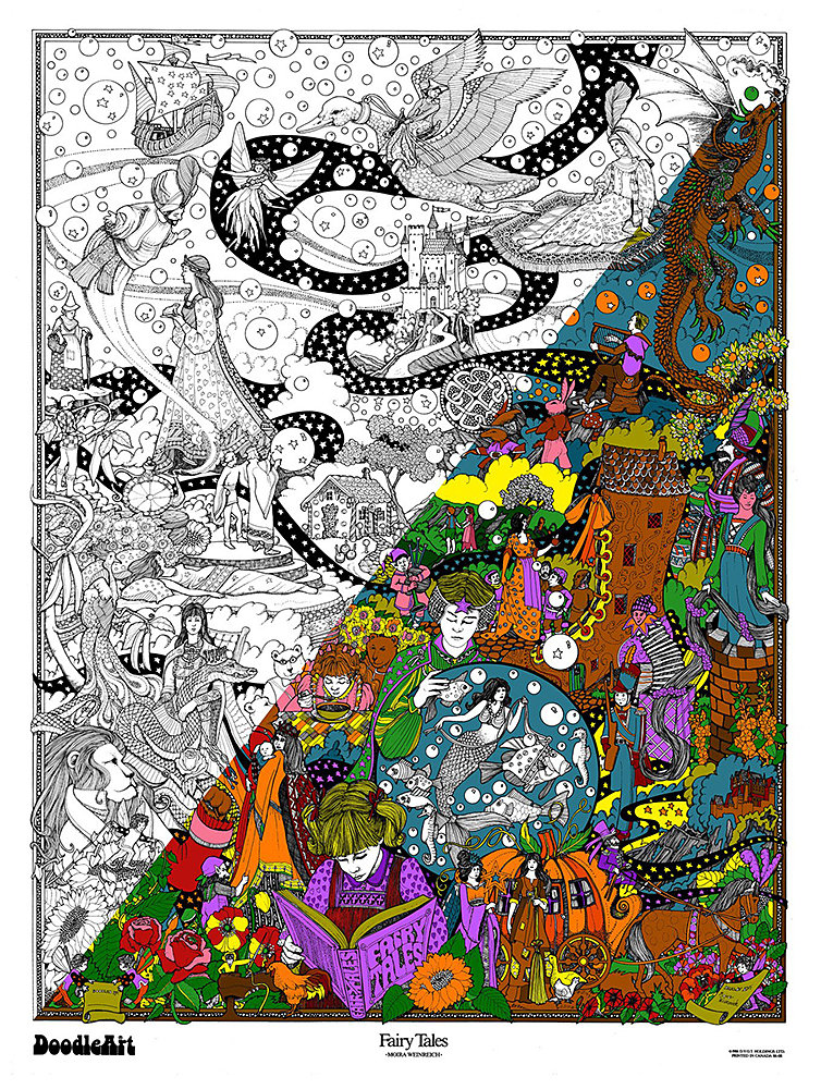 The original doodleart fairy tales coloring Coloring book poster