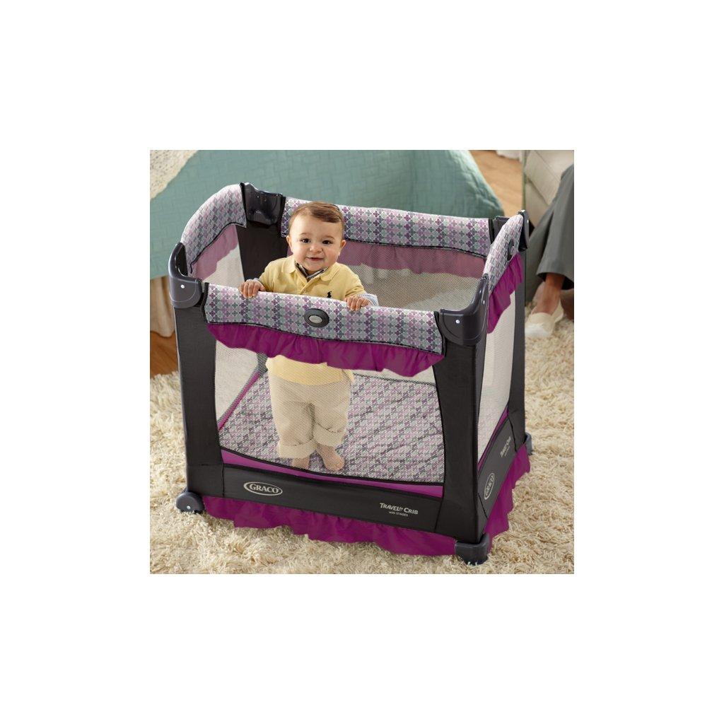 Amazon.com : Graco Travel Lite Crib, Jacqueline ...
