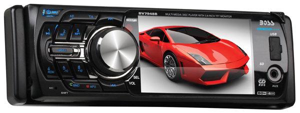 BOSS Audio BV7948B In Dash Single Din Detachable Screen DVD CD USB SD MP4 MP3