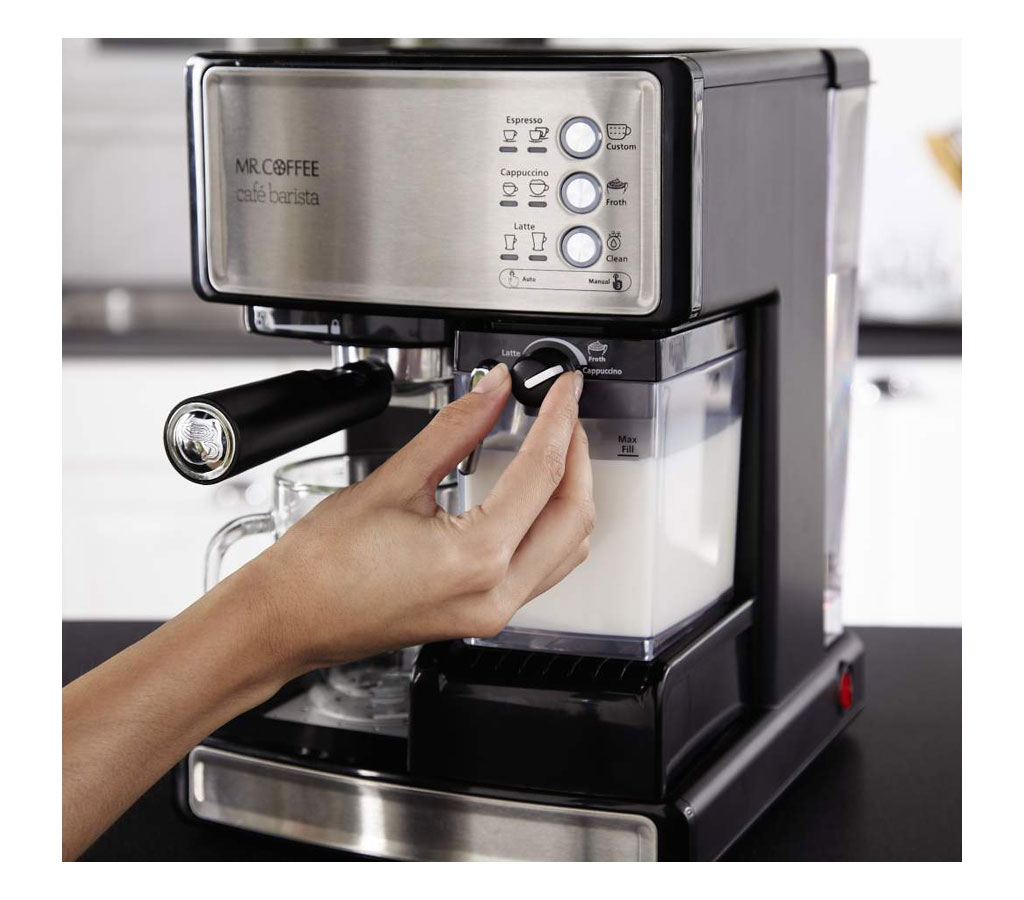 Coffee Maker Barista : Amazon.com: Mr. Coffee Cafe Barista Espresso Maker with Automatic milk frother, BVMC-ECMP1000 ...